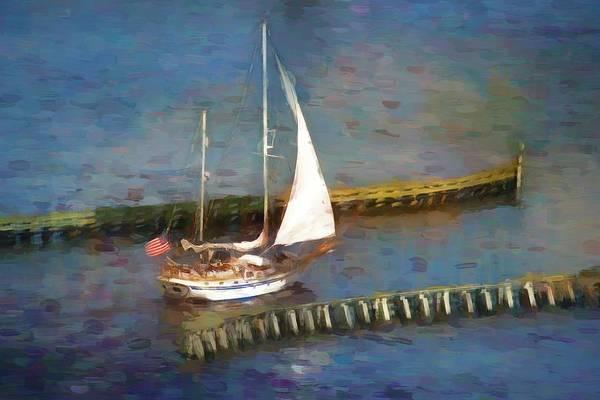 Photograph - Sailing Under Seabreeze Bridge by Alice Gipson