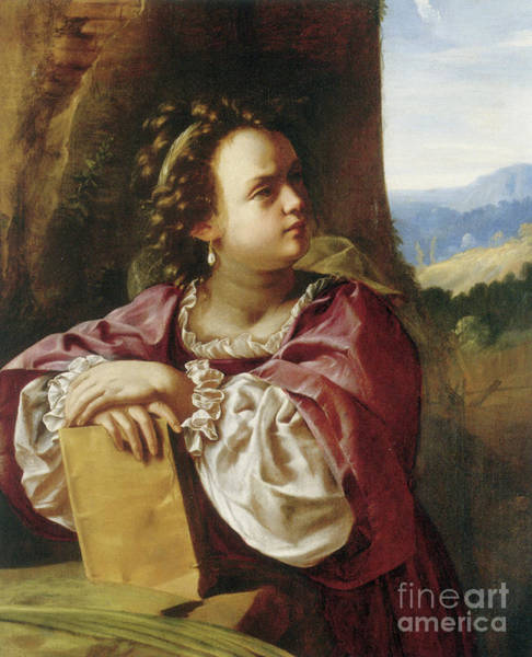 Wall Art - Painting - Saint Catherine Of Alexandria by Artemisia Gentileschi