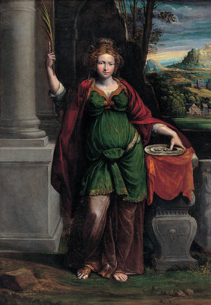 Saint Lucia Painting - Saint Lucy by Benvenuto Tisi