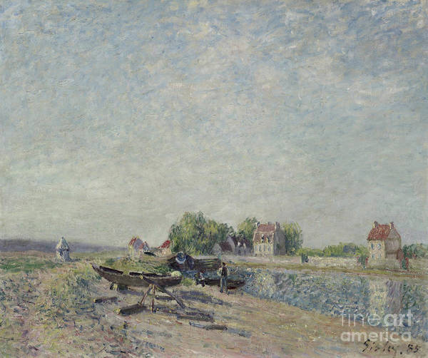 Wall Art - Painting - Saint-mammes, Loing Canal, 1885 by Alfred Sisley