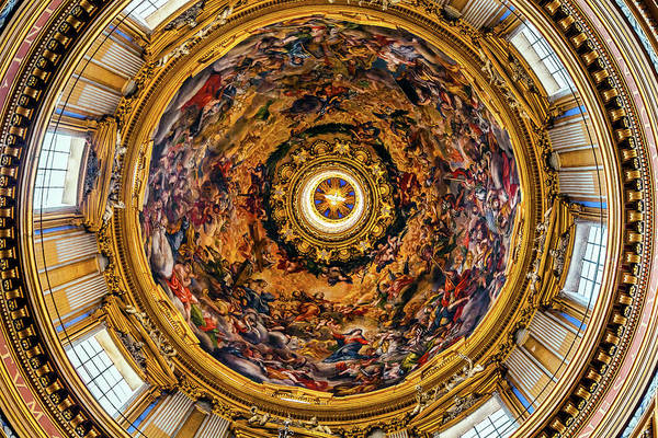 Wall Art - Photograph - Saint'agnese In Agone Church Dome by William Perry