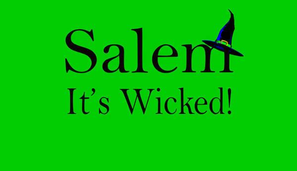 Digital Art - Salem It's Wicked Fun by Jeff Folger