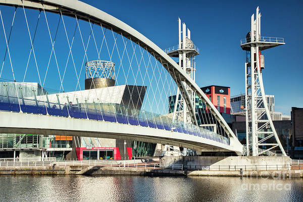 Lowry Photograph - Salford Quays Manchester The Lowry Bridge by Colin and Linda McKie