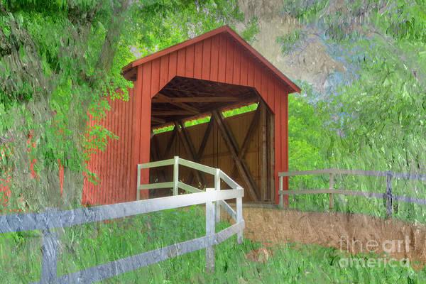 Wall Art - Photograph - Sandy Creek Covered Bridge  by Larry Braun