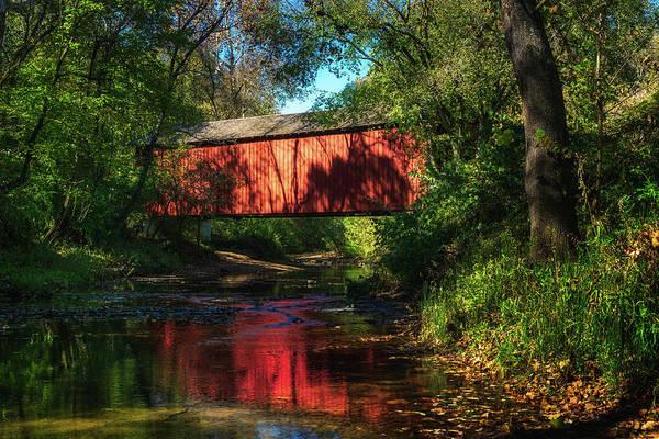 Photograph - Sandy Creek Covered Bridge by Robert FERD Frank