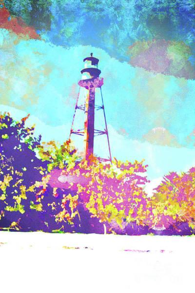 Wall Art - Mixed Media - Sanibel Lighthouse by Chris Andruskiewicz