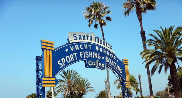 Wall Art - Photograph - Santa Monica Pier by Peter Scolney