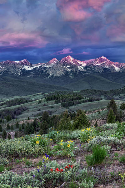 Wall Art - Photograph - Sawtooth Sunrise by Leland D Howard