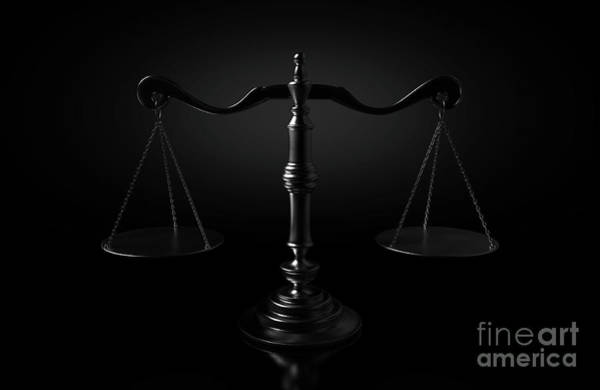Fairness Wall Art - Digital Art - Scales Of Justice Dramatic by Allan Swart