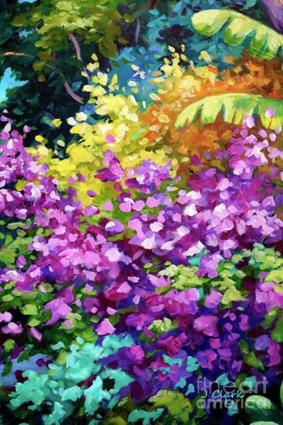 Bougainvillea Wall Art - Painting - Scene With Bougainvillea  by John Clark