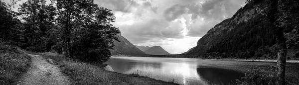 Wall Art - Photograph - Scenic View Of Lake, Sylvenstein Lake by Panoramic Images
