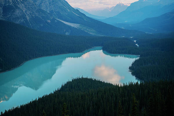 Wall Art - Photograph - Scenic View Of Mountain Lake At Banff by Panoramic Images