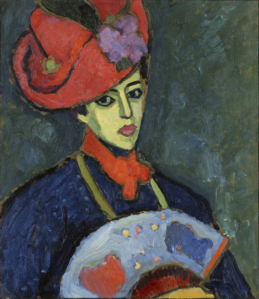 Wall Art - Painting - Schokko With Red Hat  by Alexei Jawlensky
