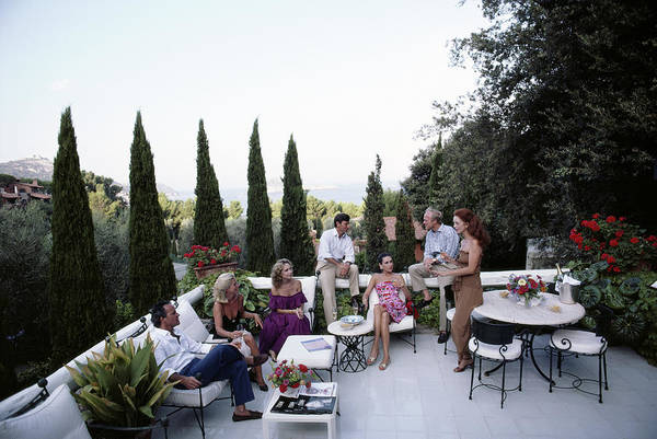Villa Photograph - Scio Family Villa by Slim Aarons