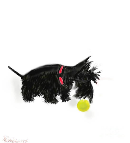 Painting - Scottish Terrier  by Reina Resto