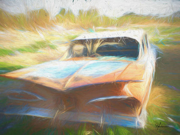 Digital Art - Scrap Car II by Per Andersson