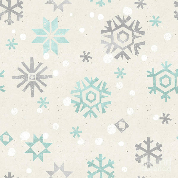 Shabby Wall Art - Digital Art - Seamless Christmas Pattern On Paper by Irtsya