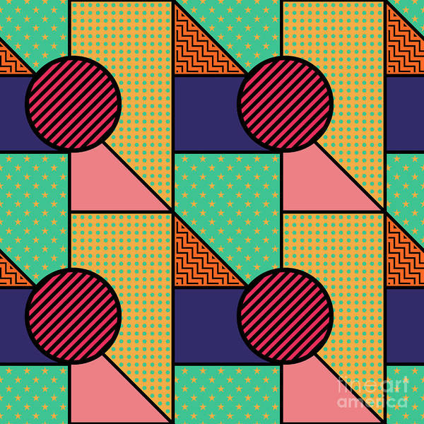 Digital Art - Seamless Pattern In Geometric Style by Iryna Omelchak