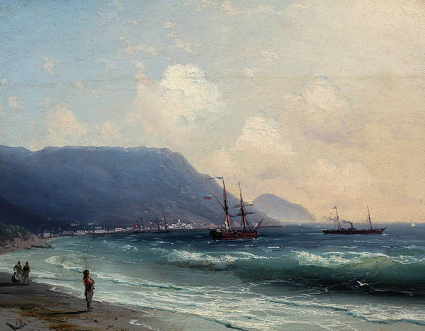 Wall Art - Painting - Seascape by Ivan Konstantinovich Aivazovsky