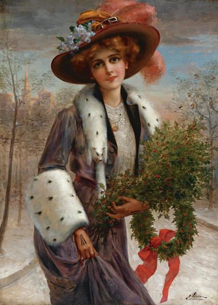 Wall Art - Painting -  Season's Greetings by Emile Vernon
