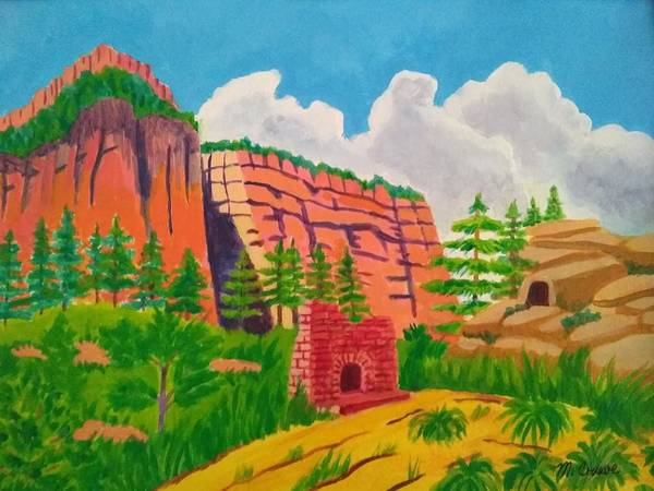 Wall Art - Painting - Sedona Summer by Margaret Crusoe