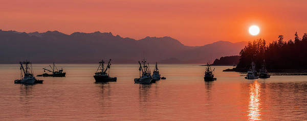 Wall Art - Photograph - Seiners Anchored In Amalga Harbor by John Hyde