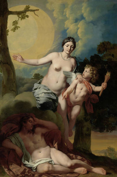 Wall Art - Painting - Selene And Endymion, 1680 by Gerard de Lairesse