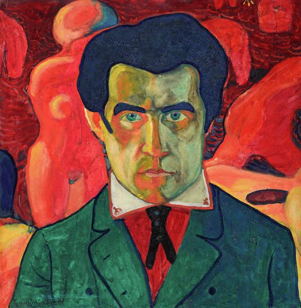 Improvisations Wall Art - Painting - Self Portrait, 1910 by Kazimir Malevich
