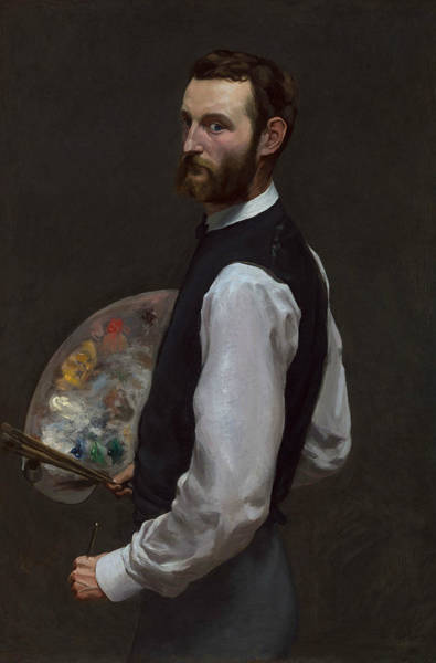 Wall Art - Painting - Self-portrait by Frederic Bazille
