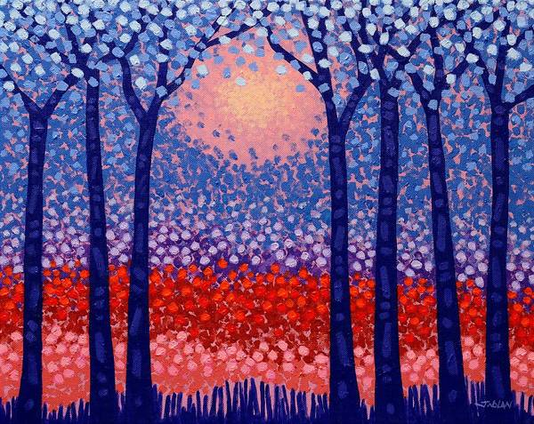 Wall Art - Painting - Seven Trees by John  Nolan