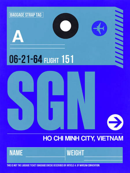 Wall Art - Digital Art - Sgn Ho Chi Minh City Luggage Tag I by Naxart Studio