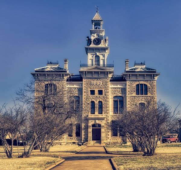 Courthouse Towers Wall Art - Photograph - Shackelford County Courthouse - Albany, Texas by Mountain Dreams