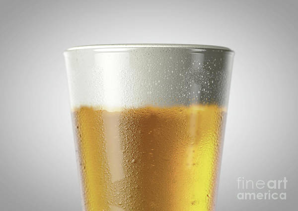Frosty Digital Art - Shaker Pint Beer Pint by Allan Swart