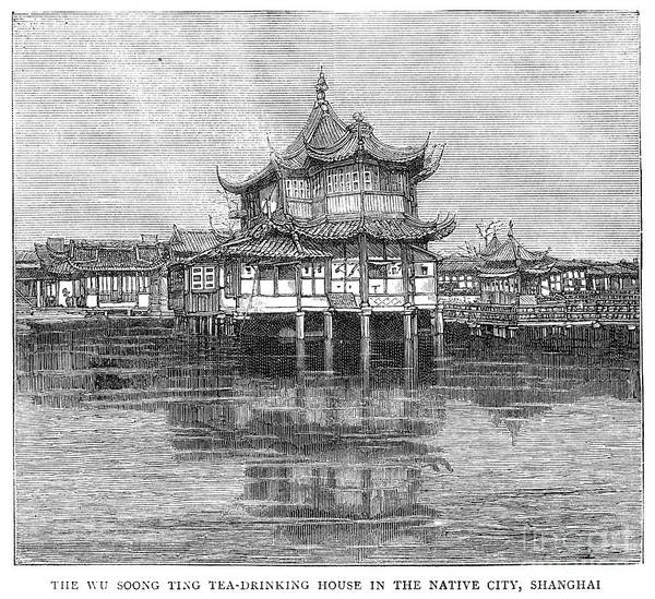 Drawing - Shanghai Bund, 1883 by Granger