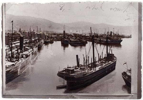 Wall Art - Painting - Shipping  Wellington Harbour  Wellington  By Burton Brothers Studio by Celestial Images