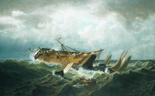 Painting - Shipwreck Off Nantucket by William Bradford