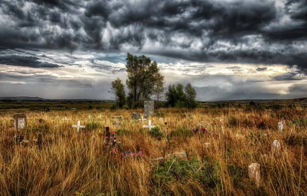 Wall Art - Photograph - Shoshone Tribal Cemetery by Mountain Dreams