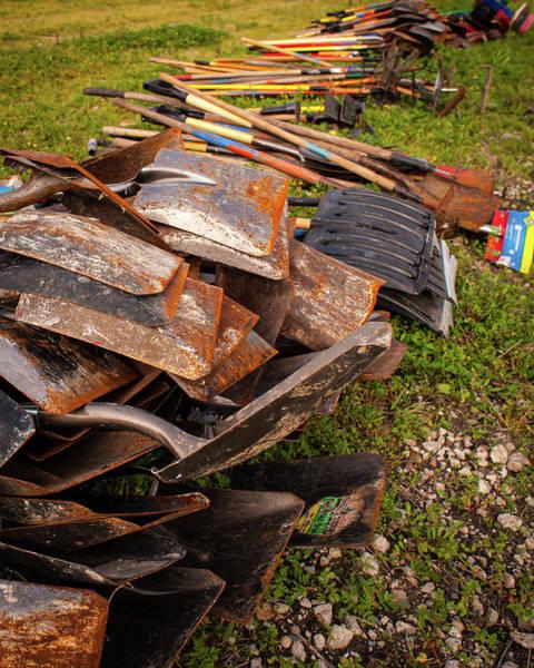 Photograph - Shovels by Jeff Phillippi