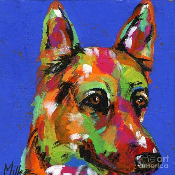Wall Art - Painting - Shy Shepherd by Tracy Miller