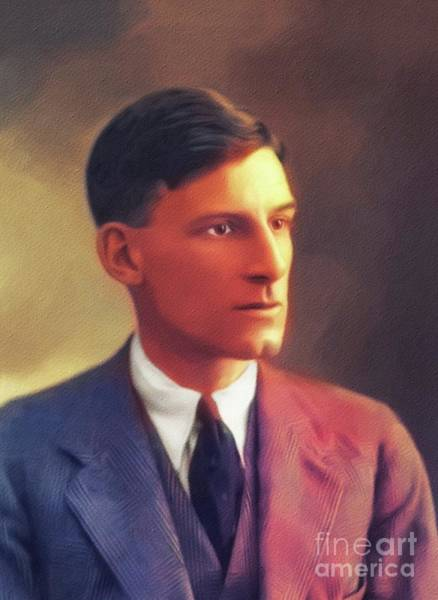 Wall Art - Painting - Siegried Sassoon, Famous Poet And War Hero by John Springfield