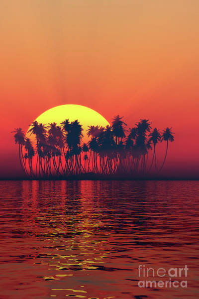 Wall Art - Photograph - Silhouette Of Island Sunset by Aleksey Tugolukov