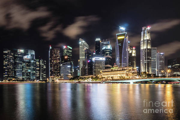 Photograph - Singapore By Night by Didier Marti