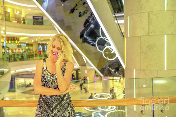 Photograph - Singapore Woman In Shopping Mall by Benny Marty