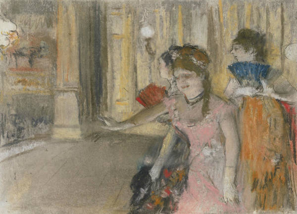 Pastel - Singers On The Stage by Edgar Degas