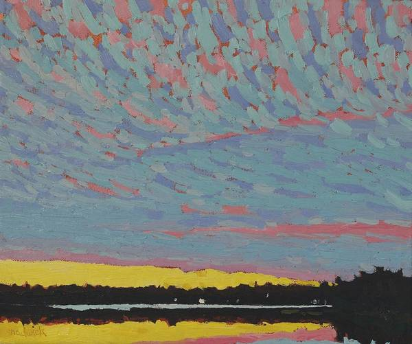 Painting - Singleton Sunset Altocumulus by Phil Chadwick