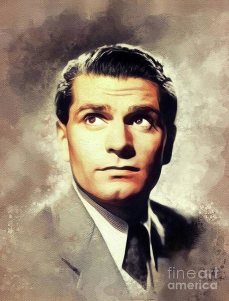 Wall Art - Painting - Sir Laurence Olivier, Vintage Actor by John Springfield