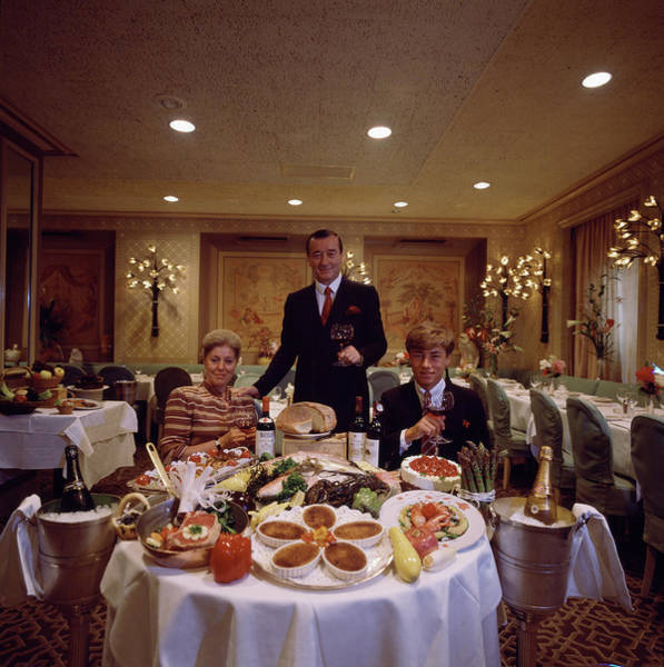 Businessman Photograph - Sirio Maccioni At Le Cirque by Slim Aarons