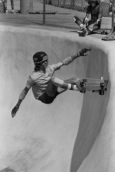 Helmet Photograph - Skateboarding Becomes A Popular Sport by George Rose