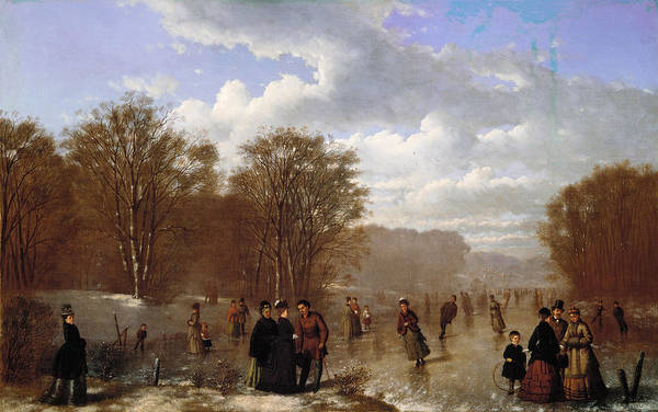 Painting - Skating On The Wissahickon by Johan Mengels Culverhouse