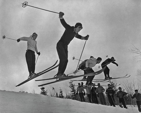 Alpine Skiing Photograph - Skiers In Quebec by Archive Photos